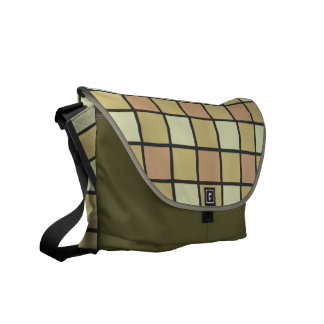 Earth Tone Tile Pattern Courier Bag