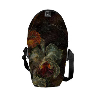 Earth Tone Vintage Flowers Courier Bag