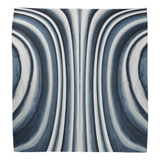 Earth Toned Blue Abstract Pattern Bandana