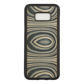 Earth Toned Blue Abstract Pattern Carved Samsung Galaxy S8+ Case