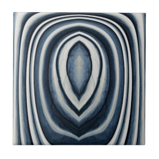 Earth Toned Blue Abstract Pattern Ceramic Tiles