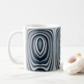 Earth Toned Blue Abstract Pattern Coffee Mug