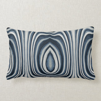 Earth Toned Blue Abstract Pattern Lumbar Pillow