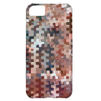 Earth Toned Multicolored Abstract Pattern Cover For iPhone 5C