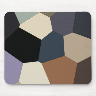 Earth Toned Multicolored Abstract Pattern Mouse Pad