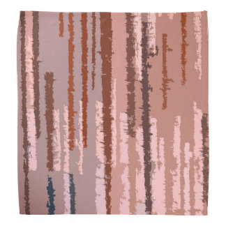 Earth Toned Multicolored Stripe Pattern Bandana