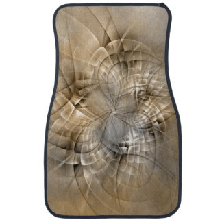 Earth Tones Abstract Modern Fractal Art Texture Car Mat
