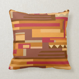 Earth tones abstract pattern accent throw pillow