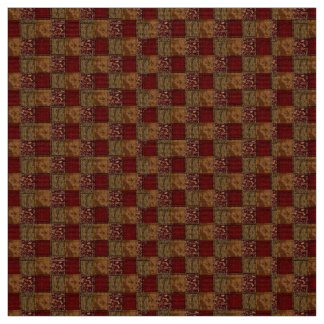 Earth Tones Abstract-Patterned Fabric