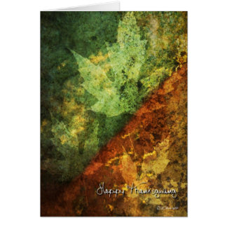 Earth Tones and Leafs Thanksgiving Card