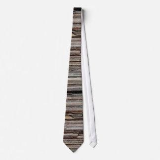 Earth tones rock layer pattern neck tie