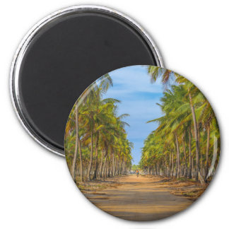 Earth Topical Road Porto Galinhas Brazil 2 Inch Round Magnet