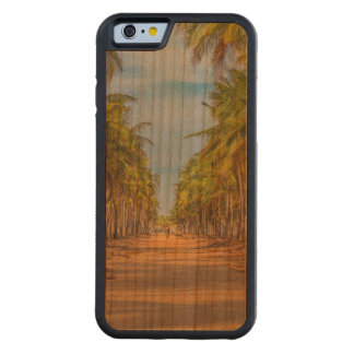 Earth Topical Road Porto Galinhas Brazil Carved Cherry iPhone 6 Bumper Case