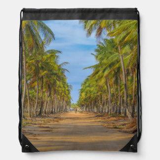 Earth Topical Road Porto Galinhas Brazil Drawstring Bag