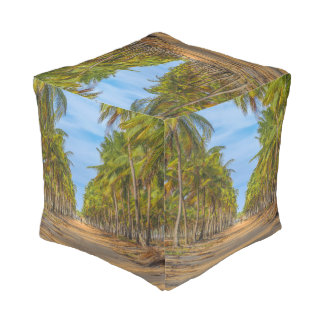 Earth Topical Road Porto Galinhas Brazil Pouf