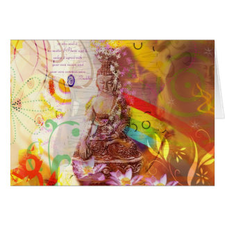 Earth touching buddha Greeting Cards