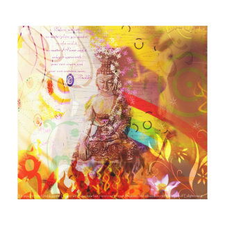 Earth Touching Budha Canvas Print