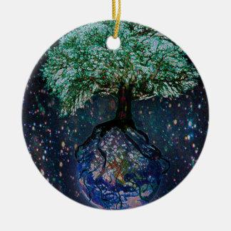 Earth Tree of Life Ceramic Ornament