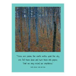 earth trees postcard