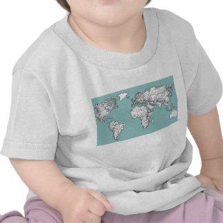 Earth turquoise ink tee shirt