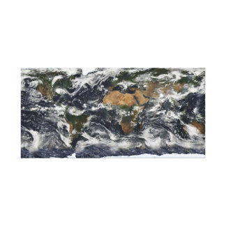 Earth Under Cloud Cover Canvas Print