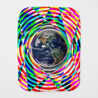 Earth Vibes v1 Baby Burp Cloth