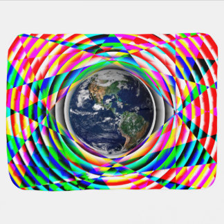 Earth Vibes v2 Baby Blanket