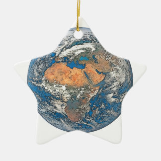 Earth View focused on the Cradle of Civilization Ceramic Star Ornament