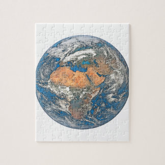 Earth View focused on the Cradle of Civilization Jigsaw Puzzle