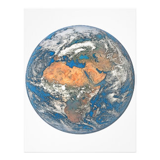 Earth View focused on the Cradle of Civilization Letterhead