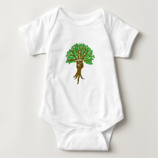Earth Warrior Tree Design, Great Earth Day Design Baby Bodysuit