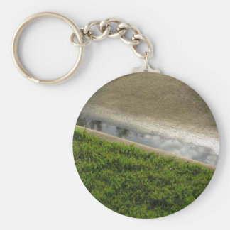 Earth,Water,Concrete Basic Round Button Keychain