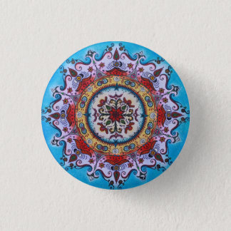 Earth-Water-Fire... Mandala Pin Button