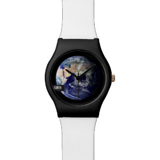 EARTH | with editable label Watch