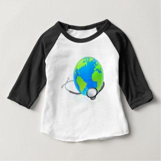 Earth World Globe Stethoscope Health Concept Baby T-Shirt