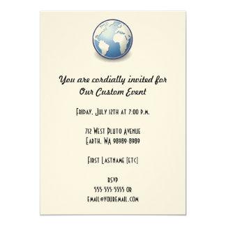 Earth World Globe Tango Card