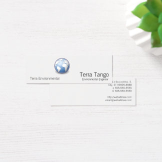 Earth World Globe Tango Mini Business Card