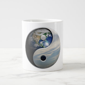 Earth Yin and Yang Symbol Large Coffee Mug