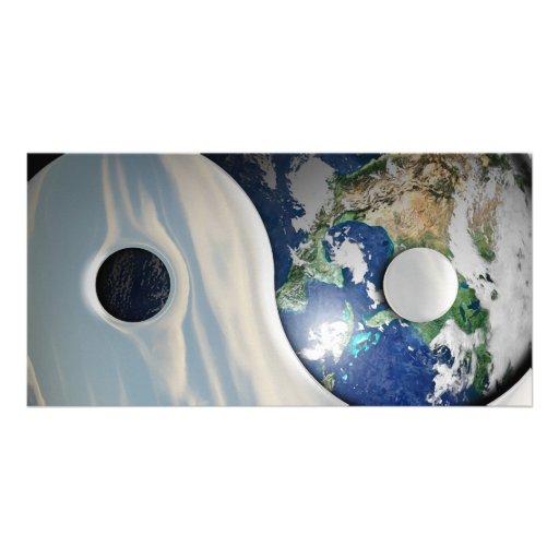 Earth Yin and Yang Symbol Photo Cards