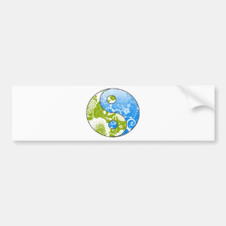 Earth Yin Yang Bumper Sticker