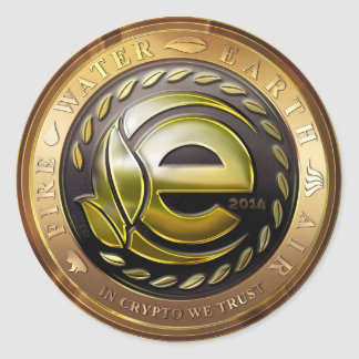 Earthcoin logo classic round sticker
