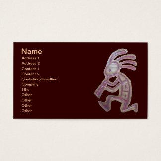 Earthenware Kokopelli Business Card