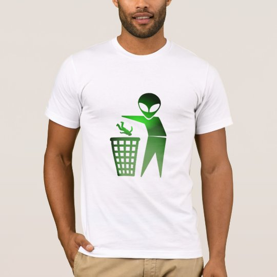 Earthling Are Rubbish (GloGreen) T-Shirt