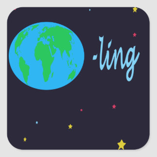 Earthling Square Sticker