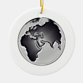 Earthly View Ceramic Ornament