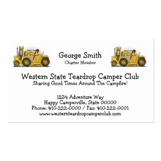 Heavy equipment business cards 244 business card templates for Heavy equipment business cards
