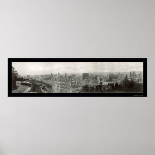 Earthquake Ruins SF Photo 1906 Poster