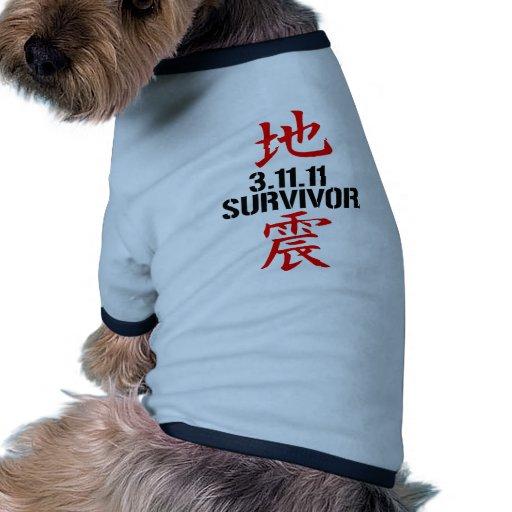 Earthquake Survivor 3-11-2011 Doggie Tshirt