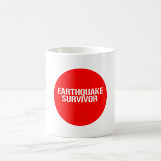 EARTHQUAKE SURVIVOR BASIC WHITE MUG