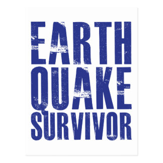 Earthquake Survivor - Blue Postcard